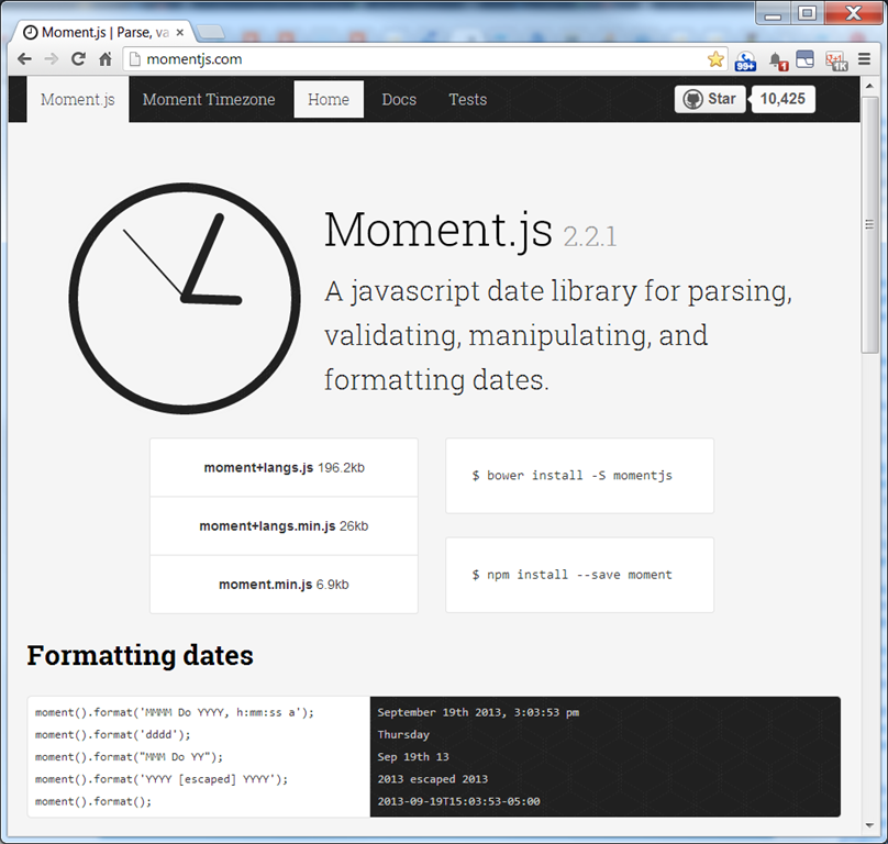 Javascript get today's date